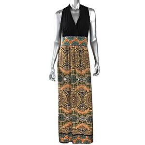 London Times Print Maxi Dress
